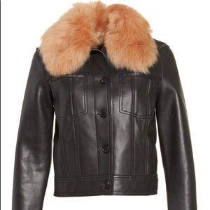 Diane von furstenberg leather jacket